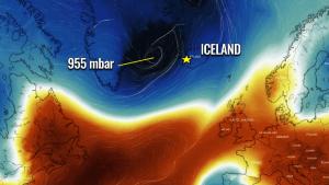 iceland windstorm waves