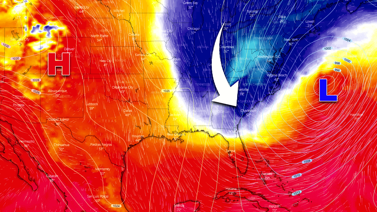 cold blast united states storm bombogenesis