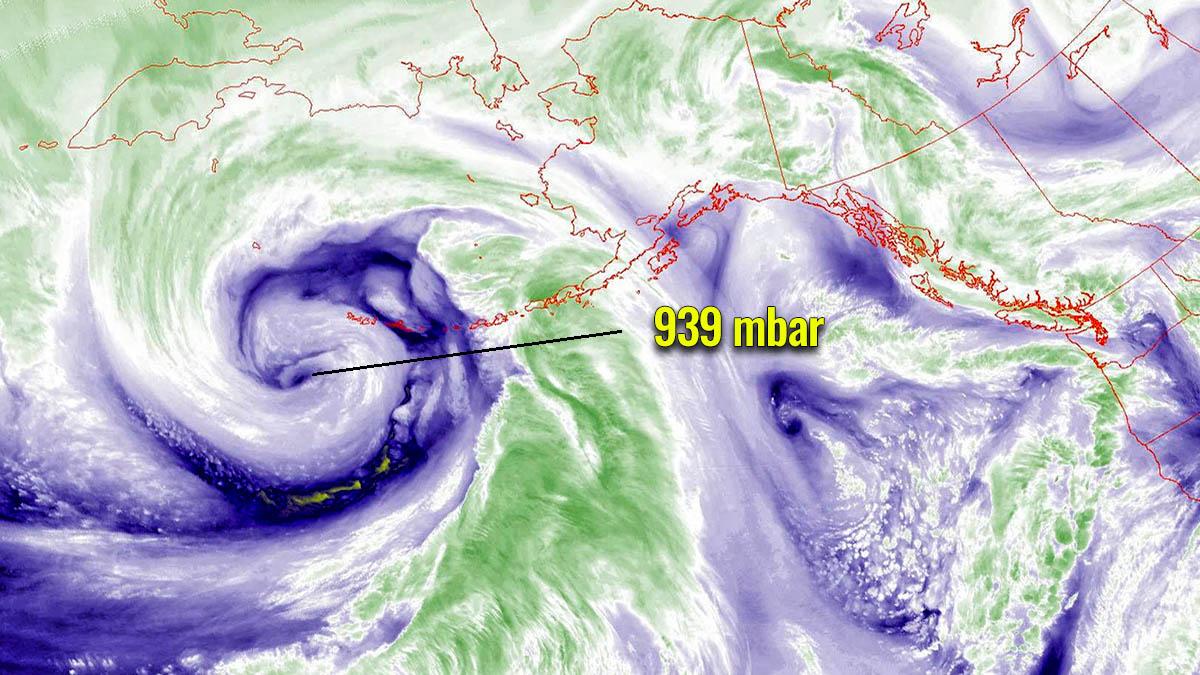 extratropical storm pacific aleutian islands