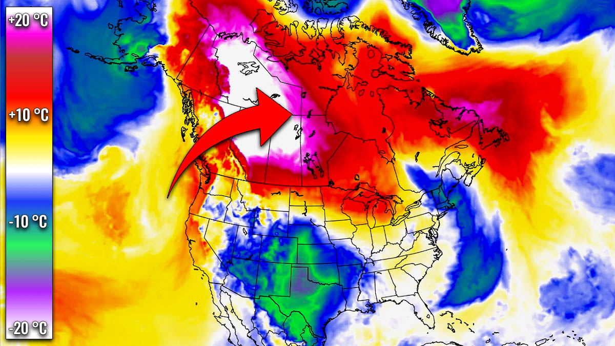 extreme warmth canada north america