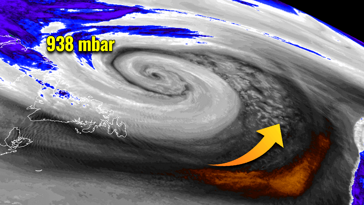 north atlantic extratropical storm waves swell