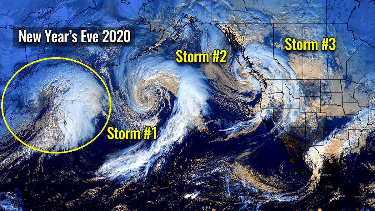 pacific record breaking extratropical storm