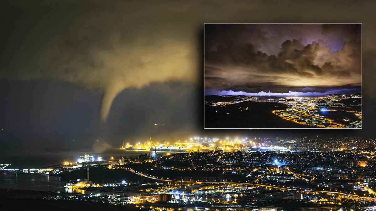 storm tornado trieste italy winter
