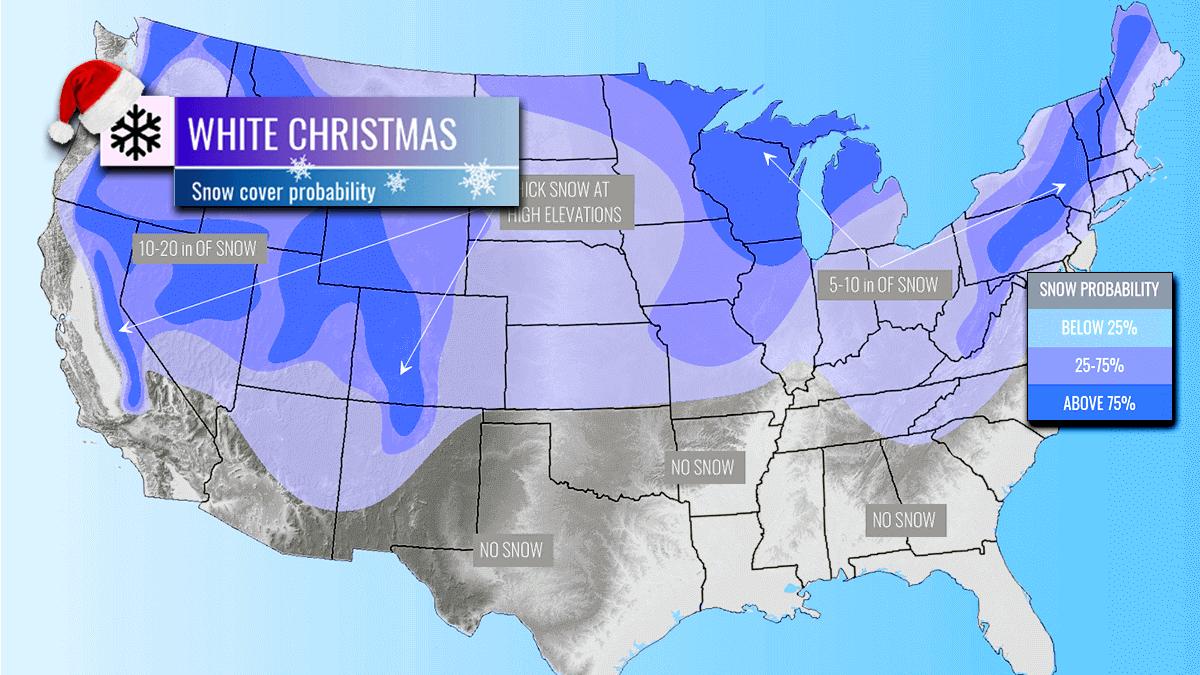 white christmas united states arctic blast forecast