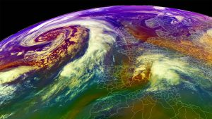 extratropical storm atlantic deep freeze europe airmass