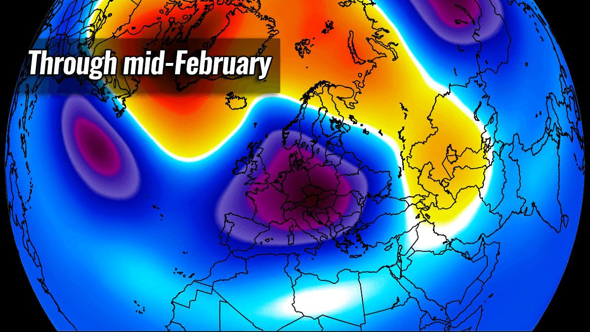 polar vortex cold snow forecast europe