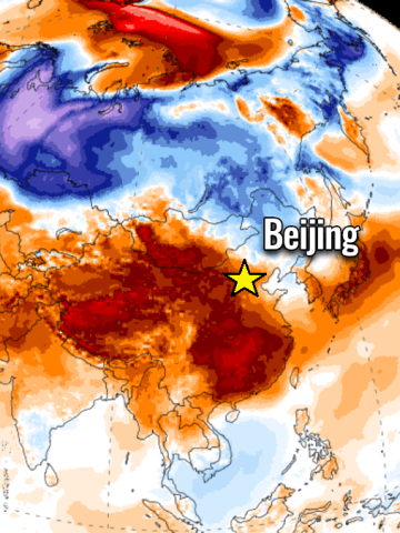 record heatwave asia china south korea
