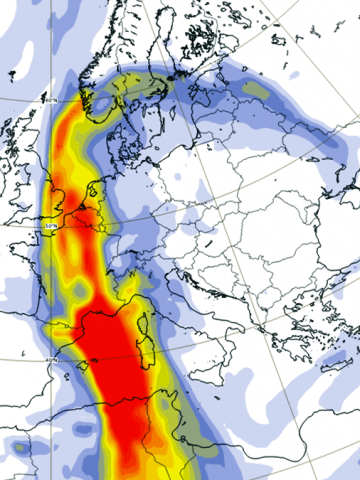 sahara dust storm warm wave europe