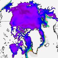 arctic sea ice maximum 2021 melt season