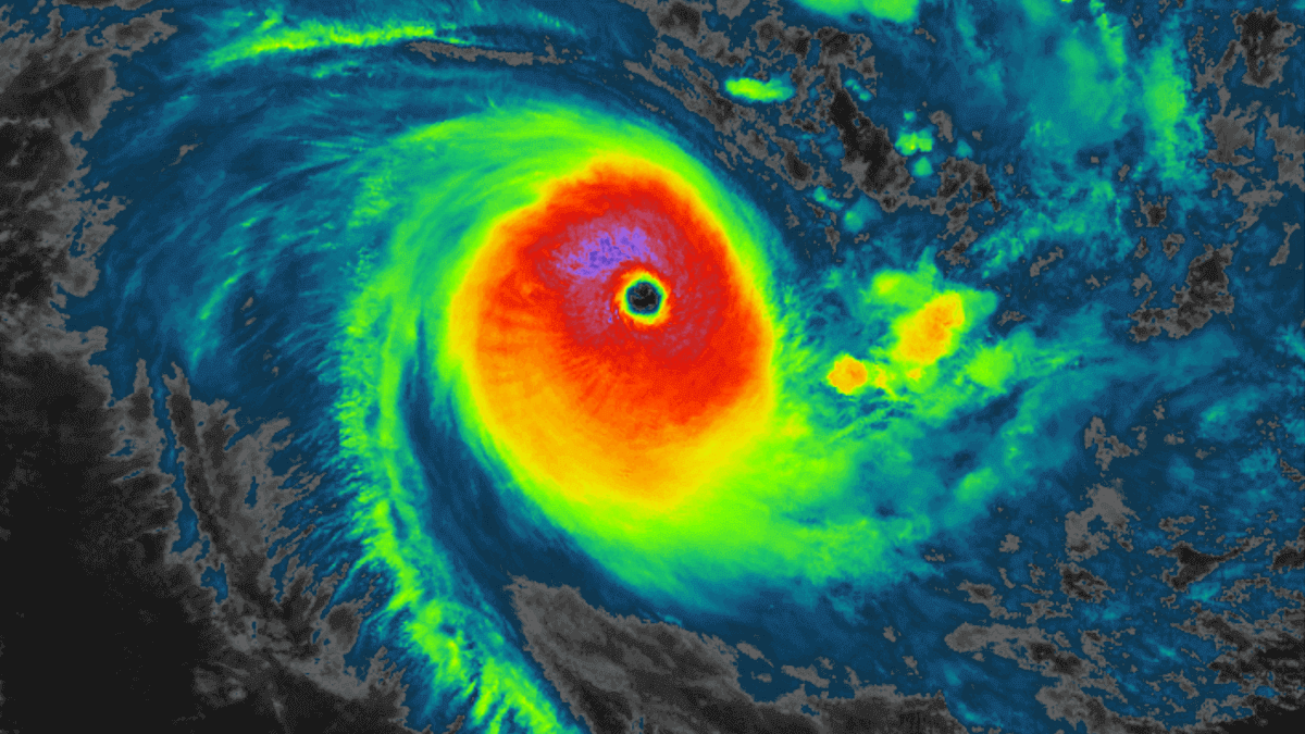 A monster Tropical Cyclone Niran peaks at Category 5, heads for a destructive landfall in New Caledonia today. Another violent storm west in the Indian Ocean