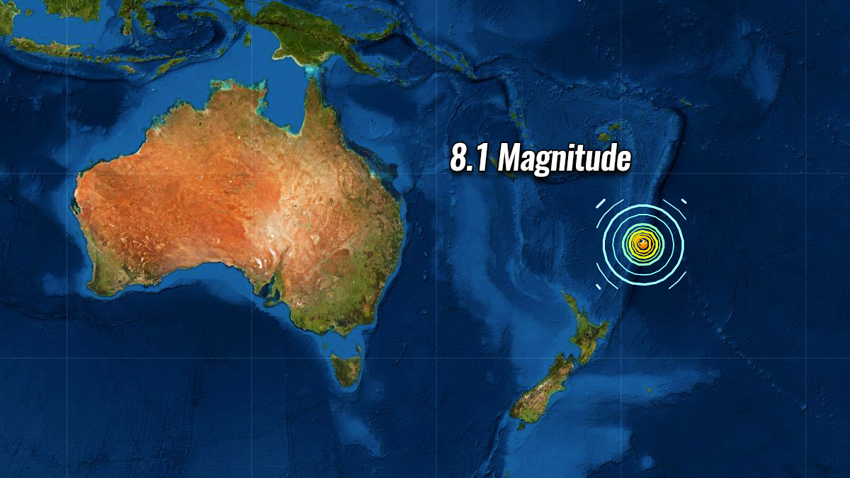 *BREAKING NEWS* A powerful M8.1 earthquake prompts Tsunami warning for New Zealand and Tsunami Watch for Hawaii