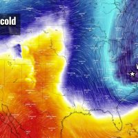 record cold blast east coast frost