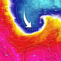 cold arctic blast united states snow spring