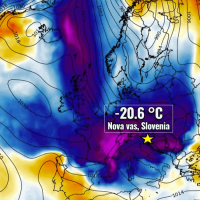 extreme cold slovenia damaging frost europe