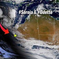 fujiwhara effect cyclone seroja odette australia landfall