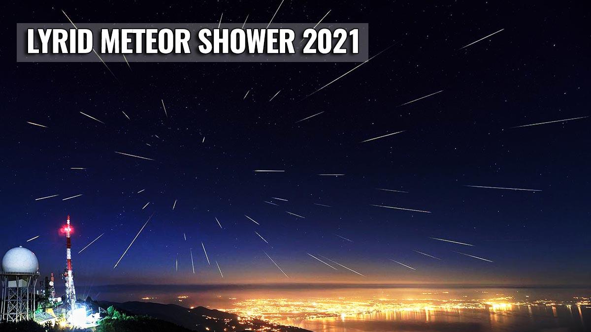 lyrid meteor shower cloud forecast 2021 featured