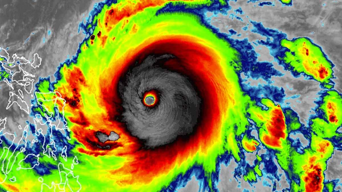record super typhoon surigae tropical cyclone philippines infrared satellite