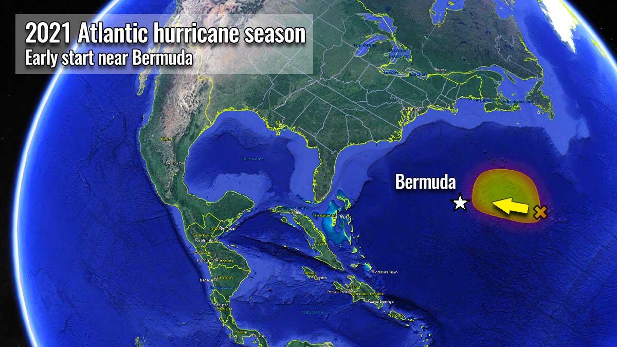 atlantic hurricane season 2021 storm ana bermuda cyclone