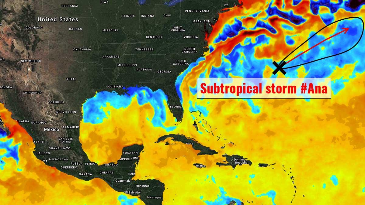 hurricane season 2021 subtropical storm ana atlantic
