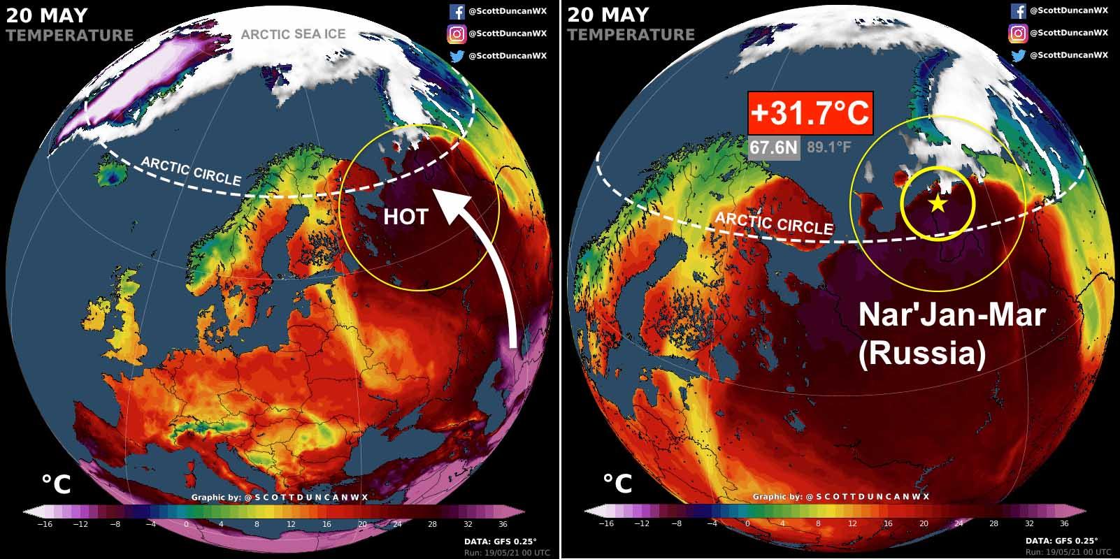record breaking heatwave russia middle east arabian peninsula arctic heat