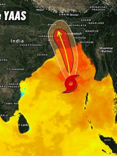 tropical cyclone yaas india