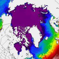 arctic ocean sea ice melt season summer north hemisphere
