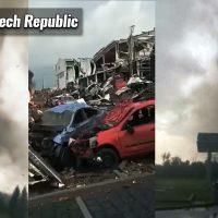 europe severe weather tornado hodonin czech republic