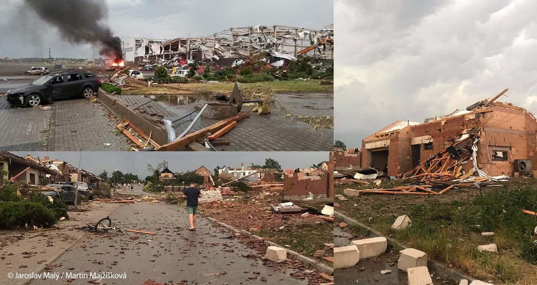 europe severe weather tornado hodonin czech republic damage