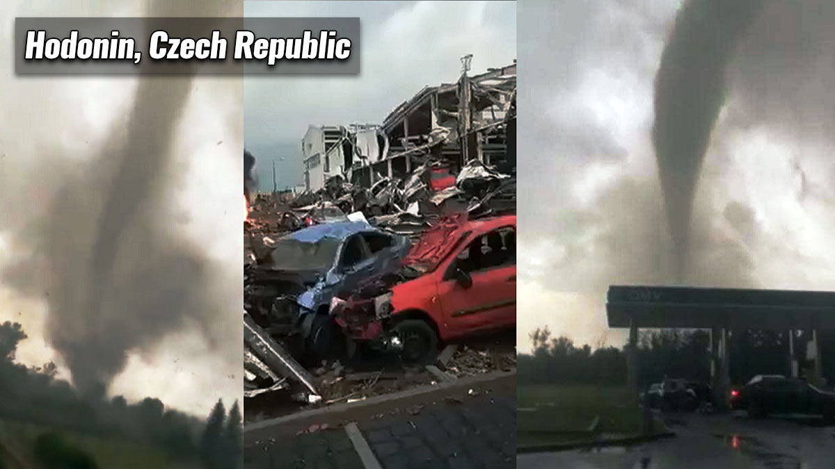europe severe weather tornado hodonin czech republic violent