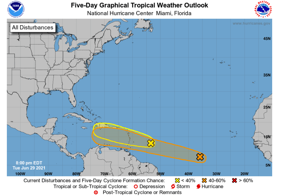 hurricane season 2021 georgia atlantic danny twin systems