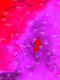 another intense heatwave central europe balkan peninsula