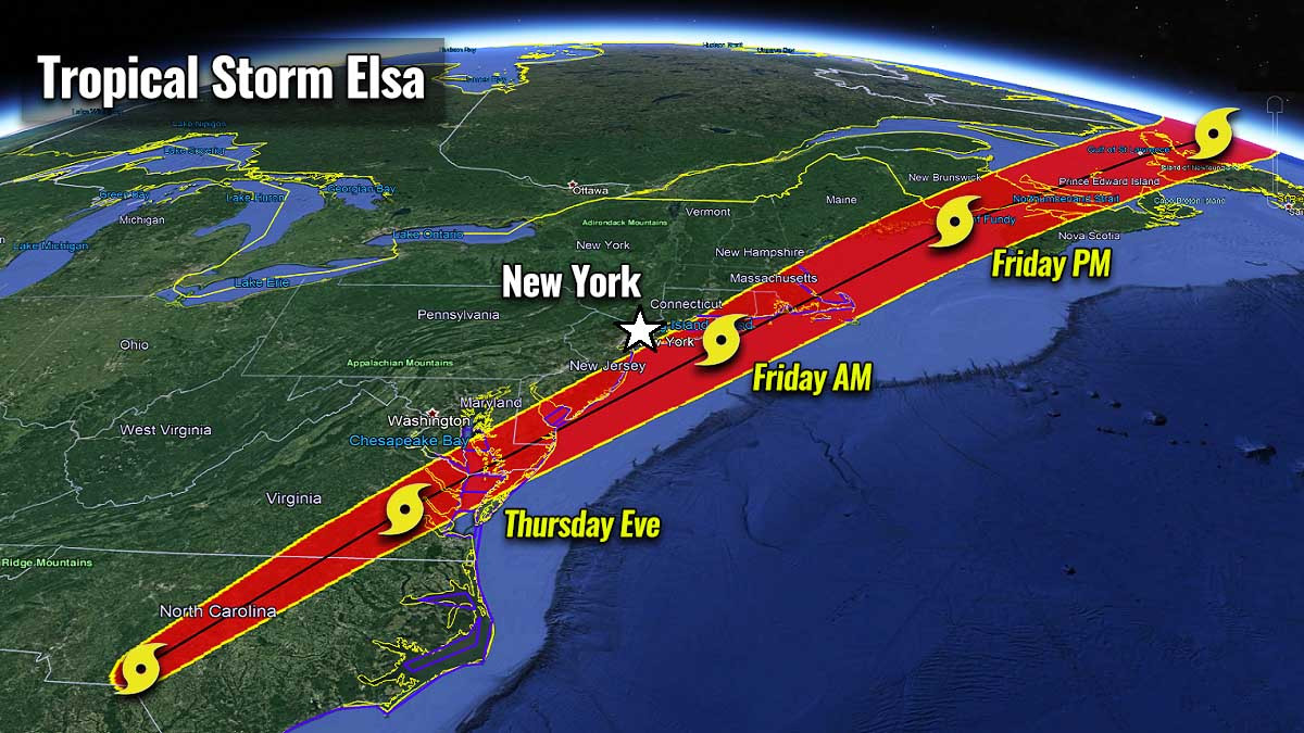 atlantic hurricane season 2021 tropical storm elsa east coast track
