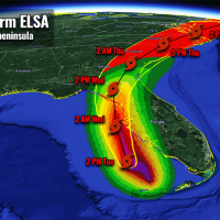 atlantic hurricane season 2021 tropical storm elsa florida landfall