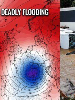 destructive flooding germany belgium