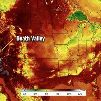 heat dome record breaking heatwave death valley