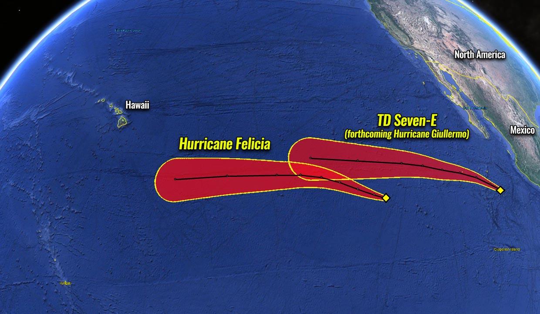hurricane season 2021 eastern pacific felicia tracks