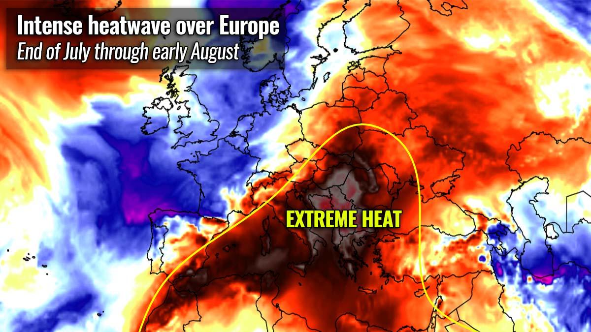 most intense heatwave summer 2021 forecast balkan peninsula