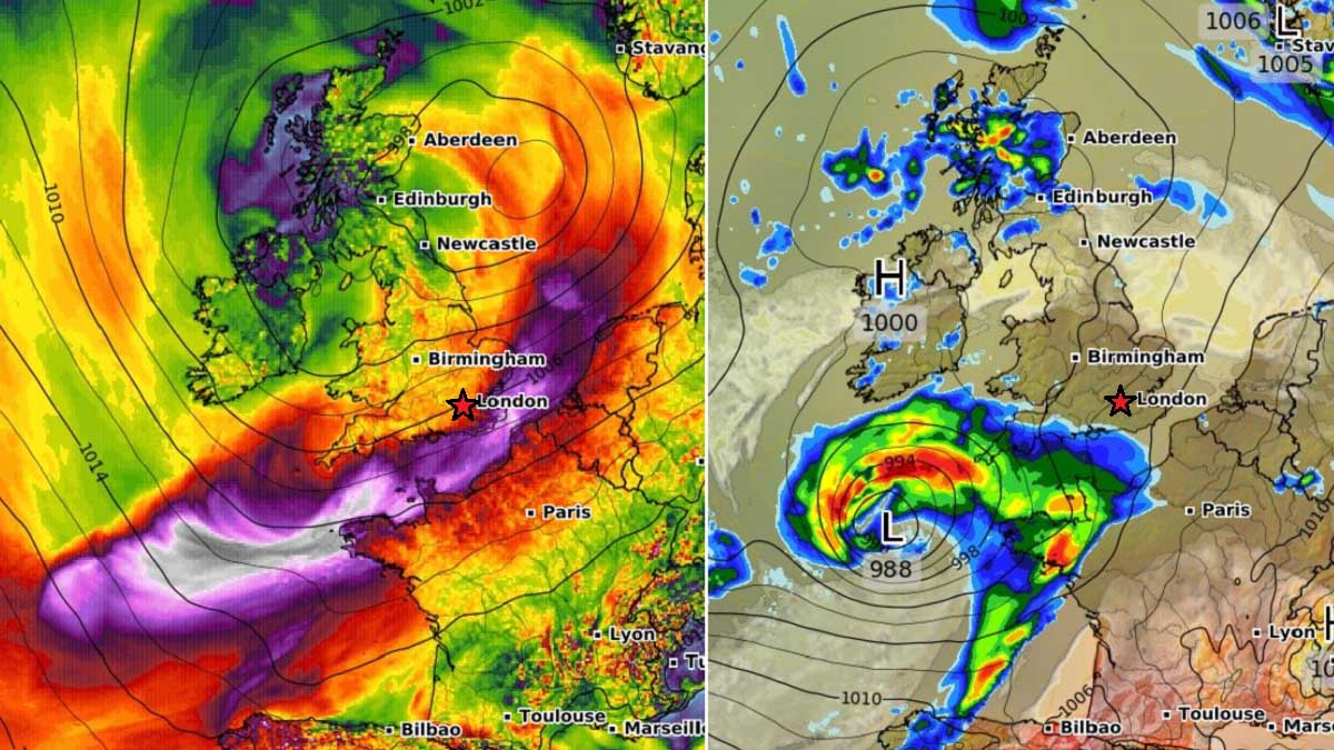 north atlantic extratropical storm england english channel france frontal system