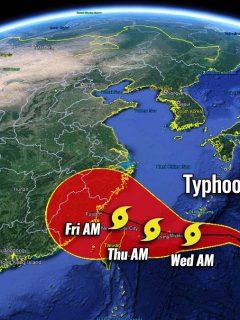 pacific typhoon season 2021 in-fa taiwan
