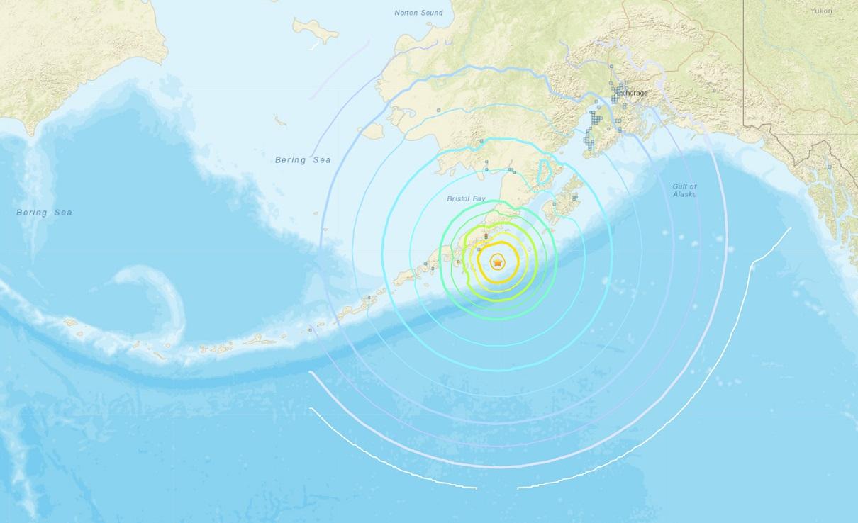 powerful earthquake alaska tsunami quake map