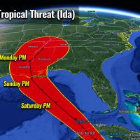 atlantic hurricane season 2021 tropical storm ida gulf coast landfall