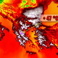 extreme record heatwave greece