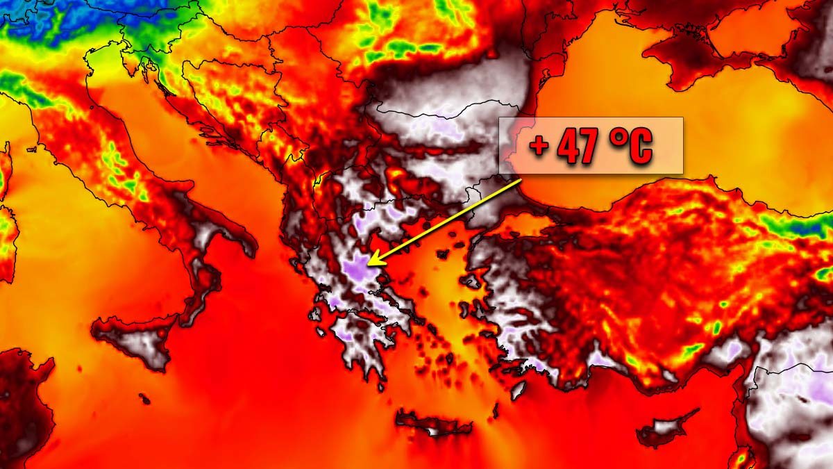 extreme record heatwave greece early august