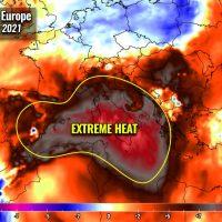 heat dome mediterranean extreme heatwave italy spain