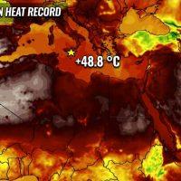 record heatwave mediterranean italy spain portugal