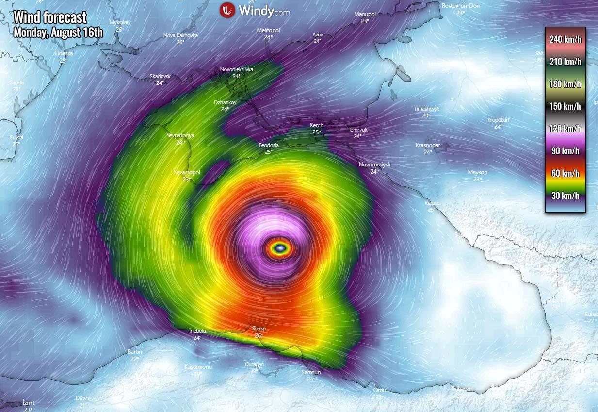 tropical like cyclone medicane alike black sea impact winds