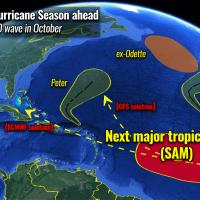 atlantic hurricane season 2021 mjo wave storm sam