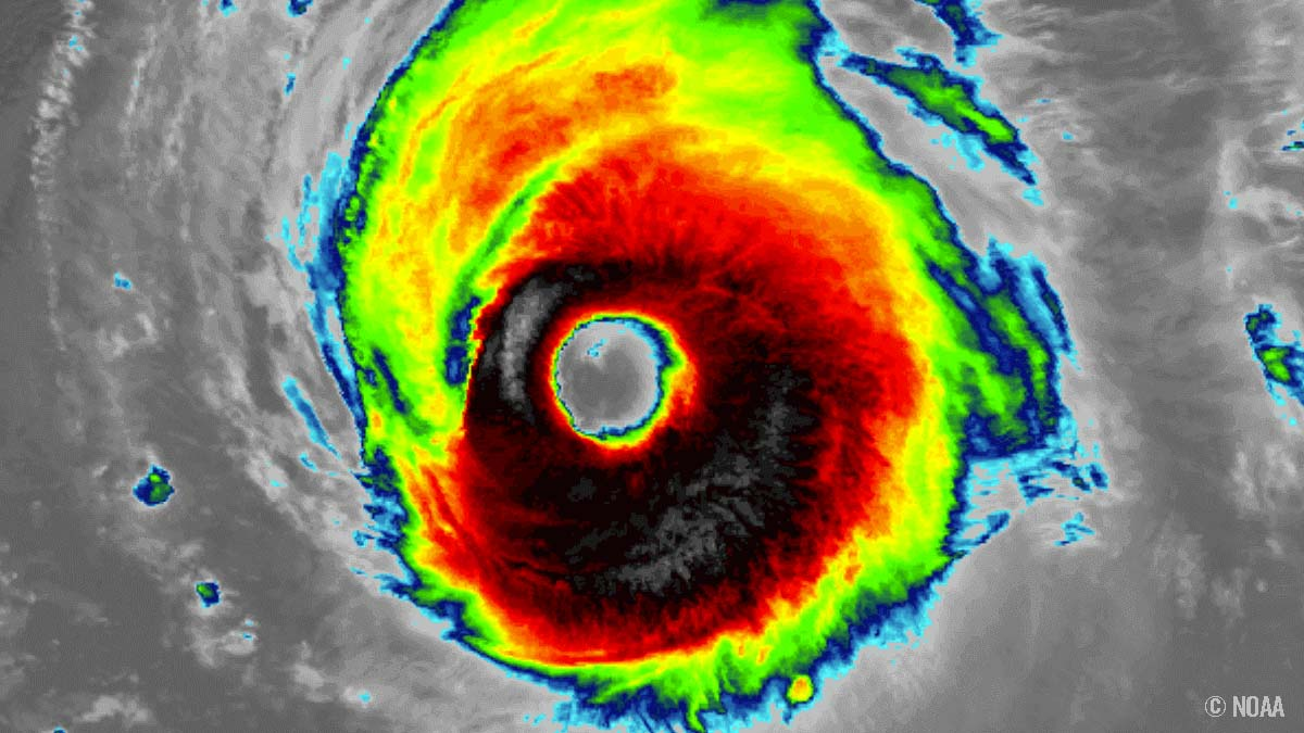 atlantic hurricane season larry bermuda infrared satellite