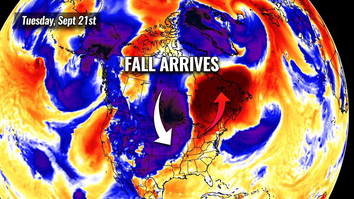cold forecast fall season 2021 start united states canada