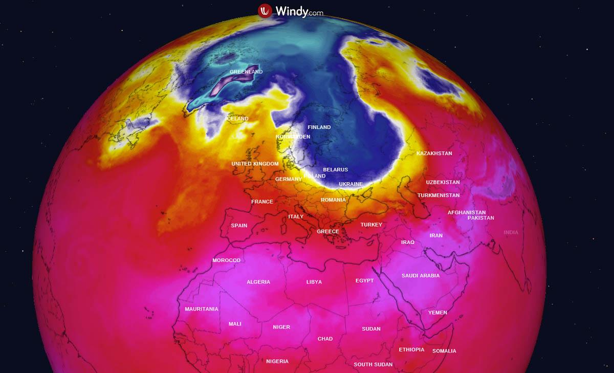 fall 2021 arctic blast scandinavia forecast globe